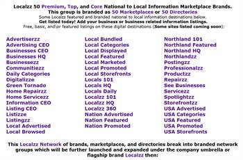 Localzz Marketplaces.com - Local and National information and advertising marketplaces